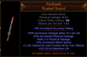 Redbeak Path of Exile