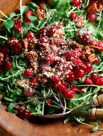 Festive Salad with Roasted Nutty Cranberries