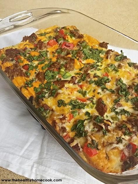 Mexican Cornbread Strata