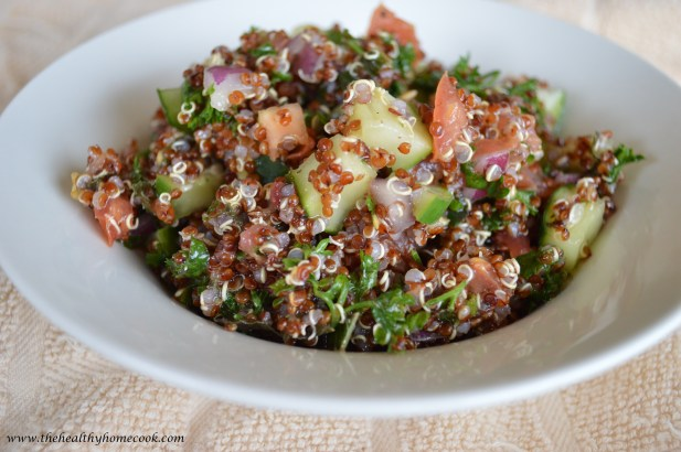It's hard to find a recipe more satisfying and refreshing after a long summer day, than this Red Quinoa Tabouli.