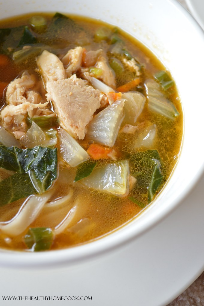 Asian Chicken Noodle Soup- There is nothing better than a warm bowl of homemade soup, any time of year!  Mix up your traditional chicken noodle soup by introducing an Asian flare with this recipe.