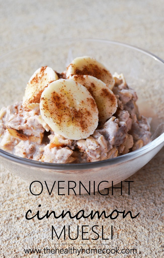Are you looking to save some time in the morning? Have your breakfast already prepared and ready to go with this Overnight Cinnamon Muesli recipe.