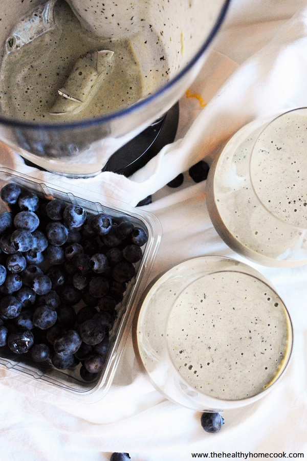 Mix up your typical morning routine with this creamy, dreamy Blueberry Spinach Protein Smoothie. There is no better way to start your day!