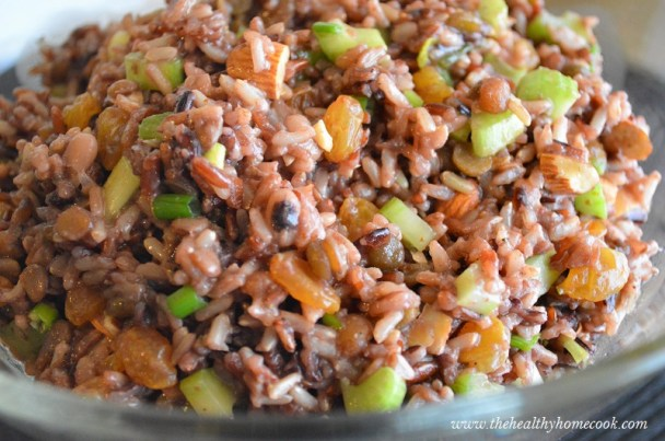 This Wild Rice Salad is a fresh and clean dish that is perfect as a side dish, but I often take it as a meal for lunch.