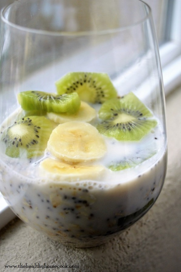 Don't skip out on the most important meal of the day. Plan ahead and prep this Banana Kiwi Overnight Oats recipe to start your day off right.