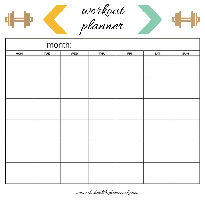 image regarding Free Printable Fitness Planner named Physical fitness Building + No cost Printables The Healthier Household Cook dinner