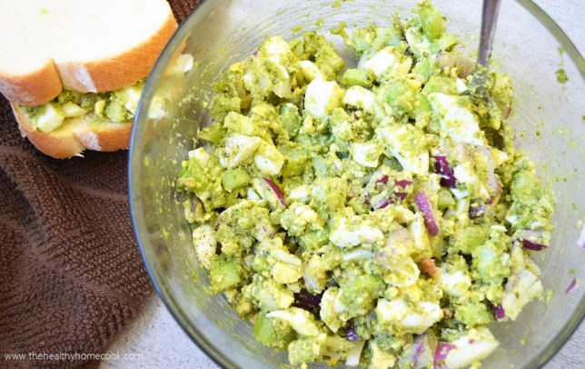 Perfect Pesto Egg Salad- Kick that traditional egg salad to the curb, you don't need another boring recipe in your life.