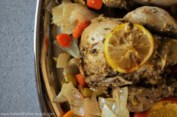 This juicy {Slow Cooker} Herb & Citrus Cornish Hen recipe is one you will never forget!