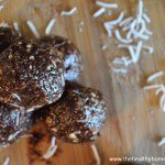 Chewy Chocolate Coconut Protein Bites