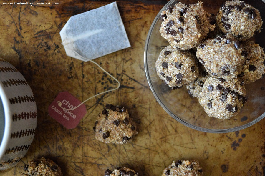 Get your protein fix this winter with my Dark Chocolate Chai Protein Bites!