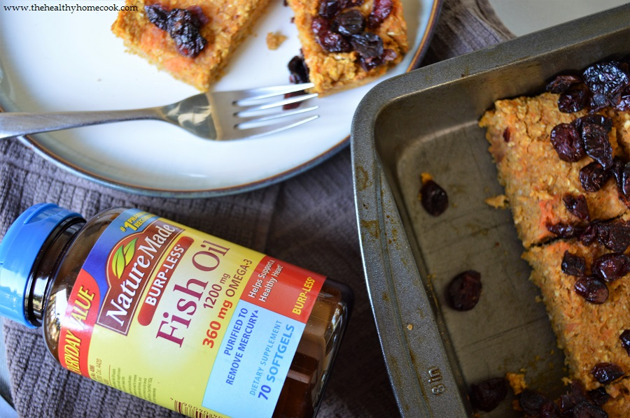Trust your heart health with Nature Made® and my fall favorite recipe of Sweet Potato Cranberry Breakfast Bars.