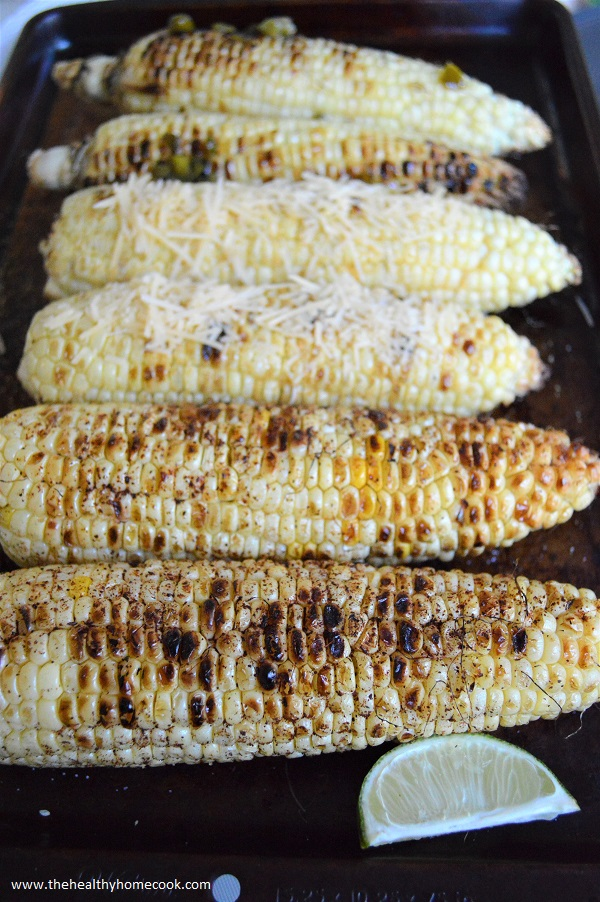 Grilled Corn 3 Ways from The Healthy Home Cook