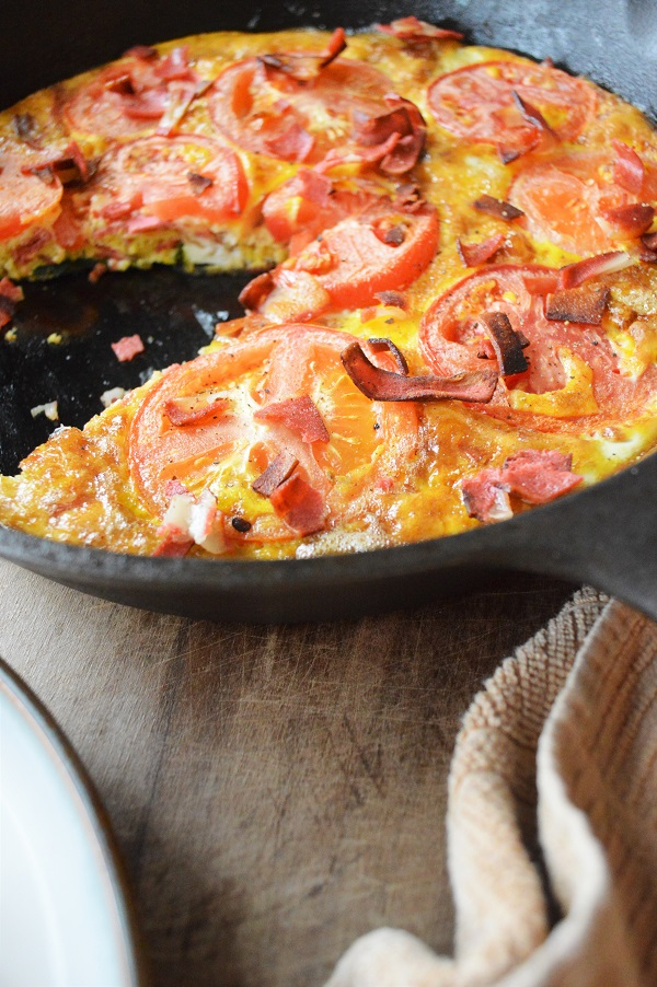 Recreate everyone's favorite classic sandwich in a new form. This BLT Frittata is perfect for breakfast, lunch or dinner!