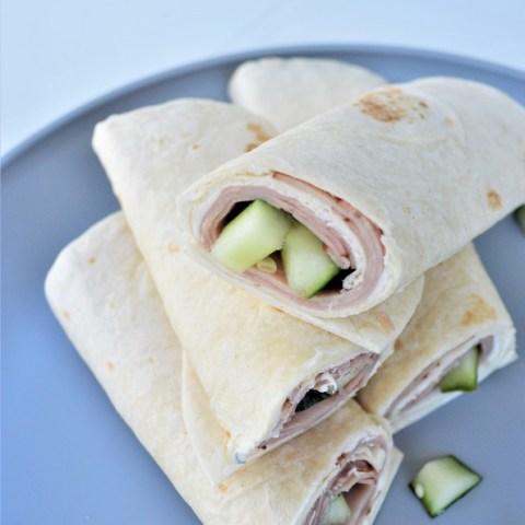 Cucumber & Ham Wrap with Creamy Ranch Spread