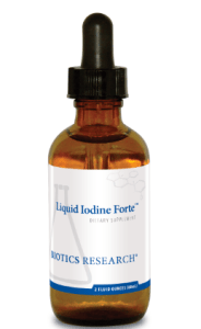 brown small bottle of liquid iodine