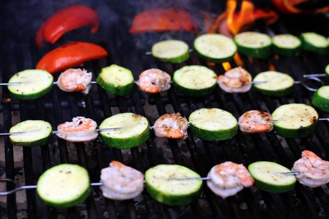 Shrimp Kabobs with Homemade Zesty Italian Dressing