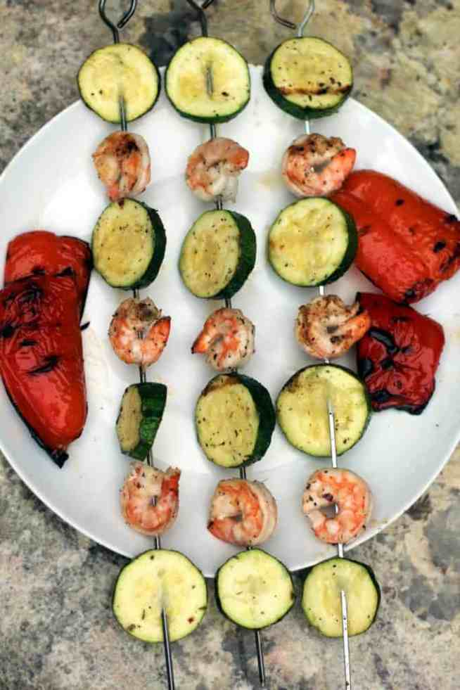 Kabobs with peppers