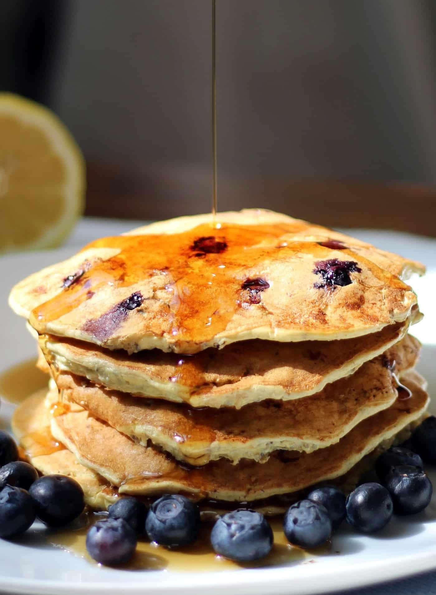 Elegant Blueberry Lemon Ricotta Pancakes