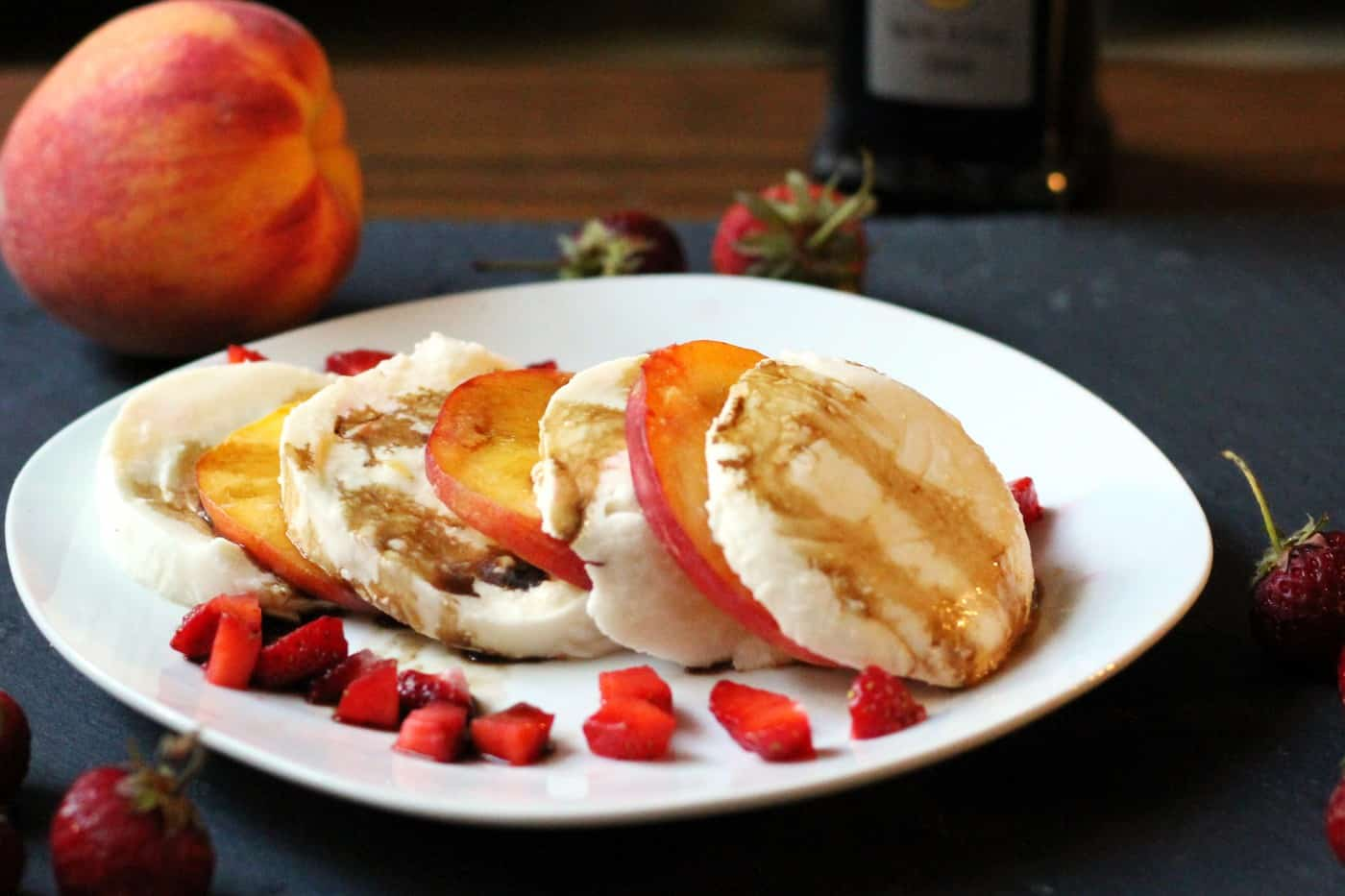 Simple Peach Caprese Salad