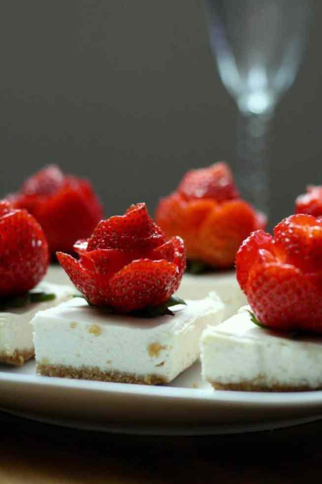 Rose strawberry cheeseake 2