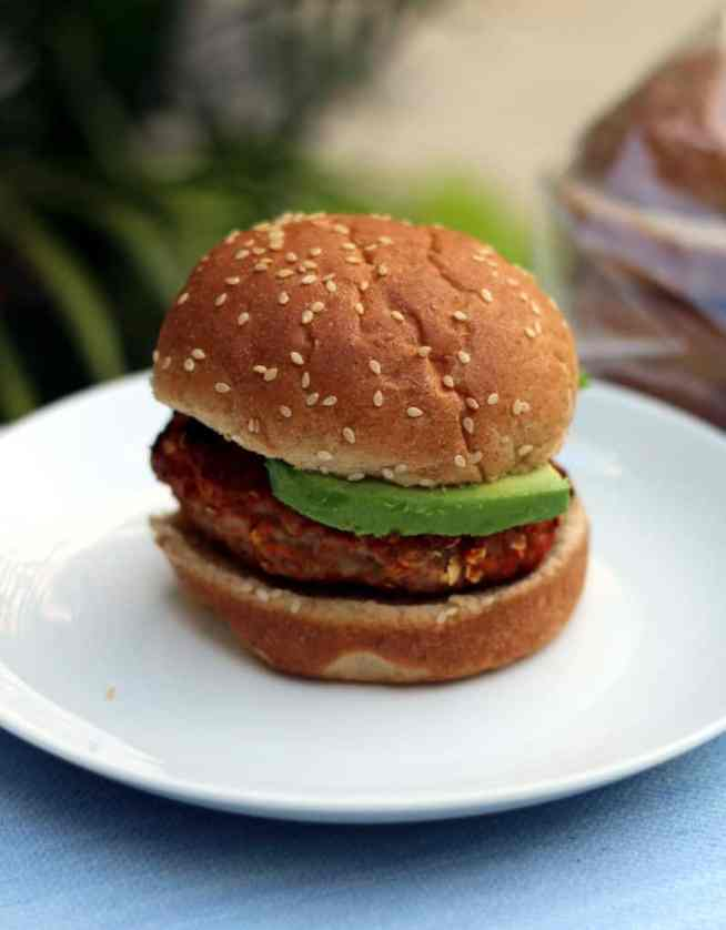 Grilled turkey burger 2