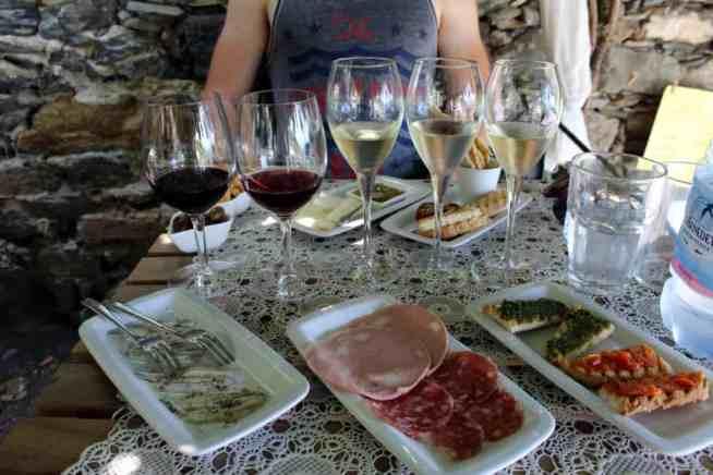 Wine tasting foods