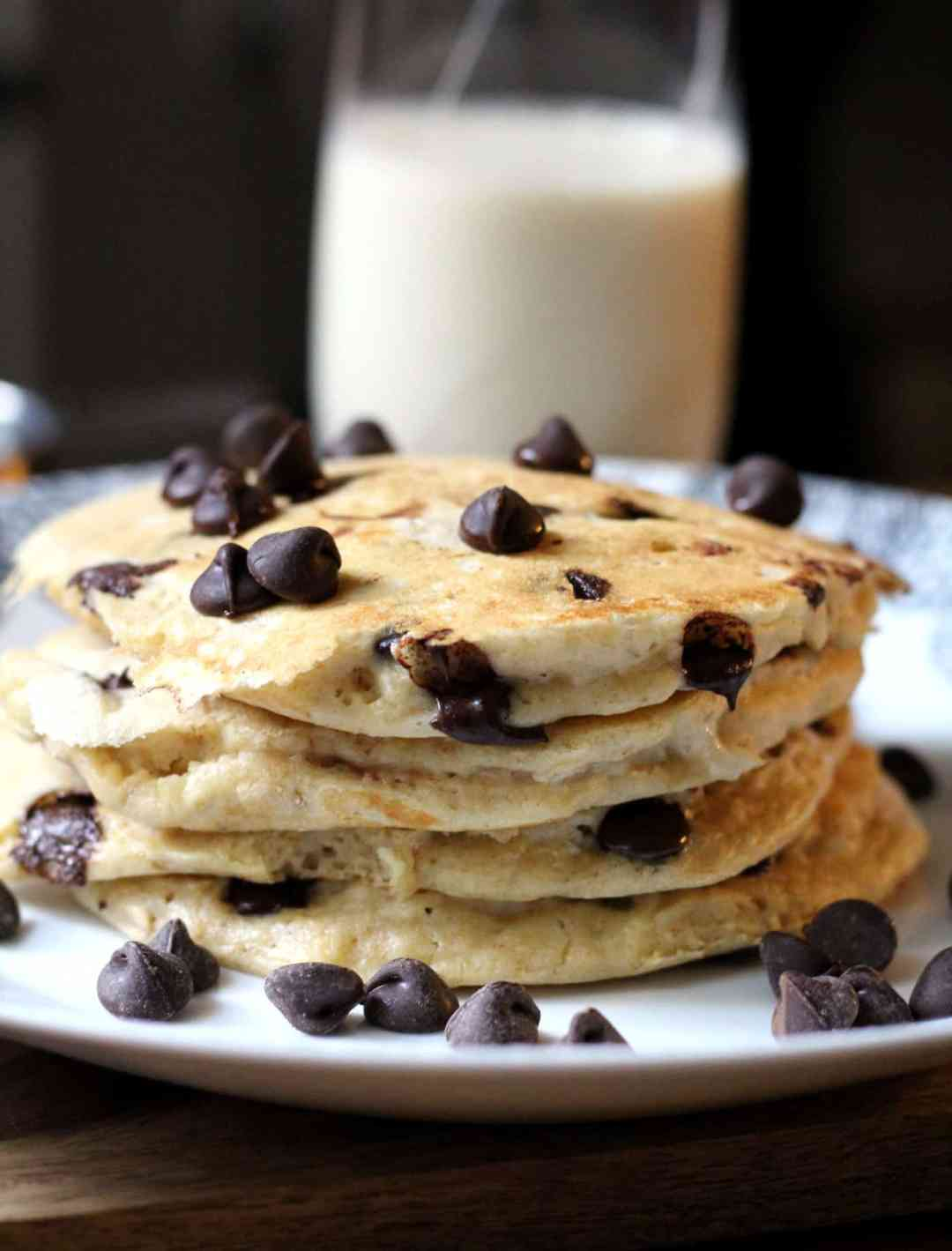 Whole Grain Chocolate Chip Pancakes | The Healthy Toast