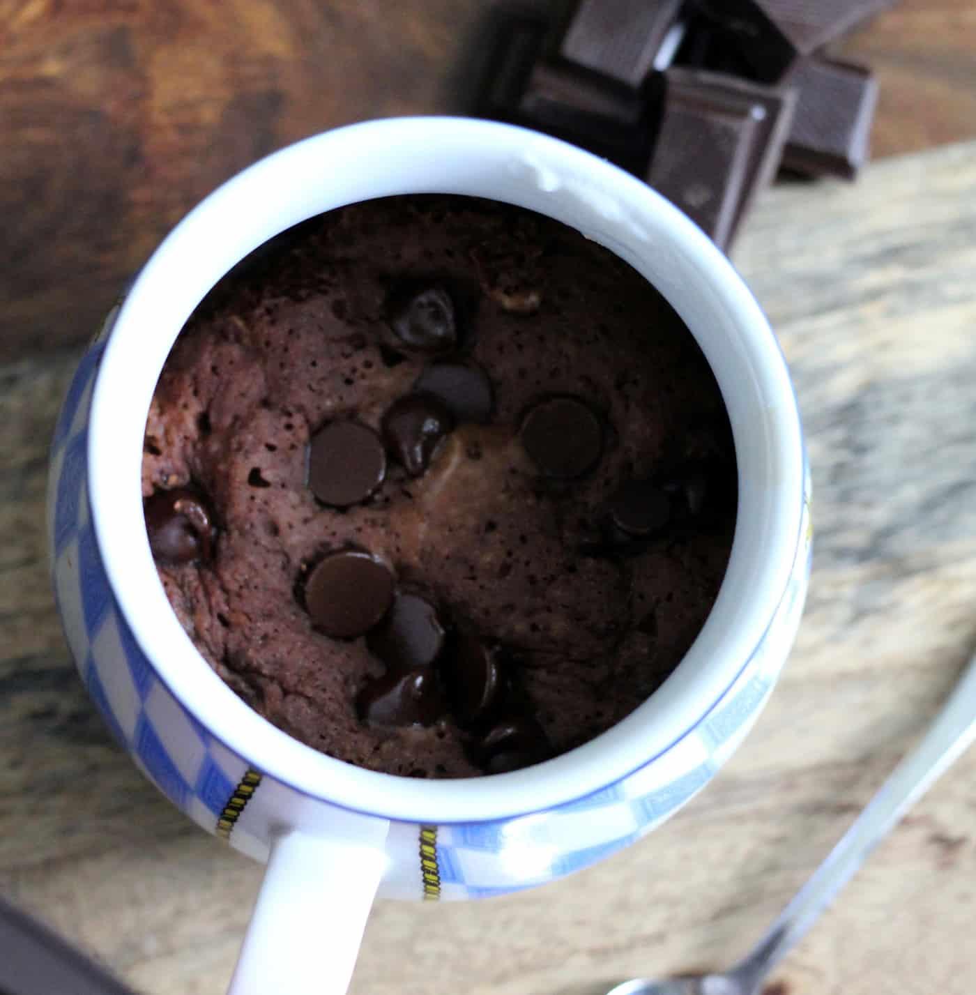 Single-Serving Gooey Chocolate Mug Cake • The Healthy Toast