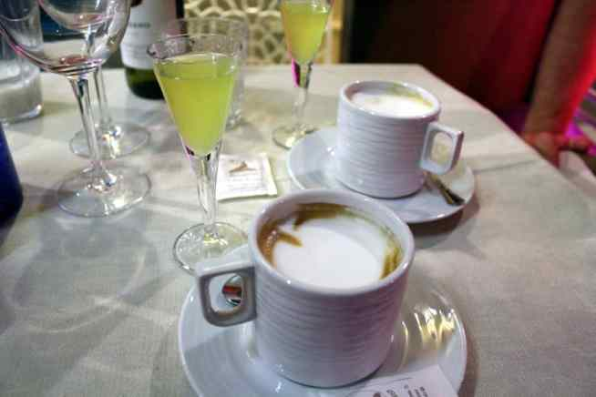 limoncello and coffee