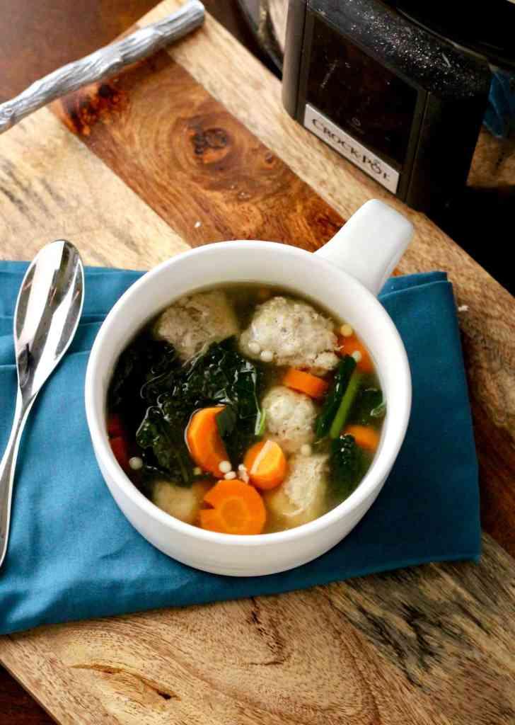 Healthier Italian Wedding Soup Crockpot Recipe