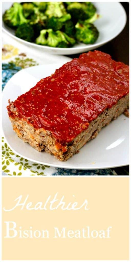 Healthier bison meatloaf Pinterest image