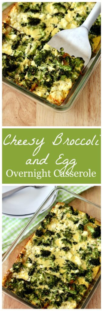 Cheesy broccoli and egg overnight casserole Pinterest image