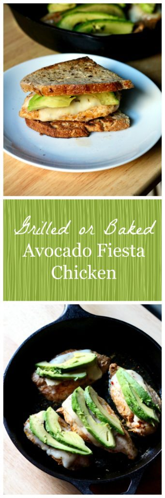 Grilled or Baked Avocado Fiesta Chicken