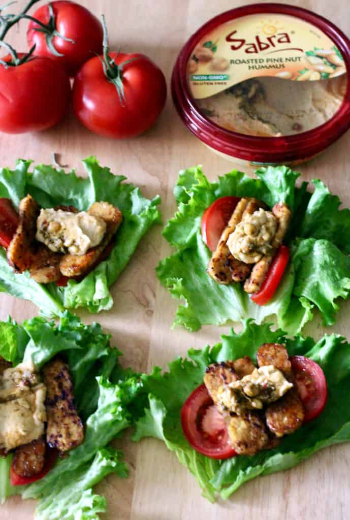 Vegan Hummus BLT Wraps