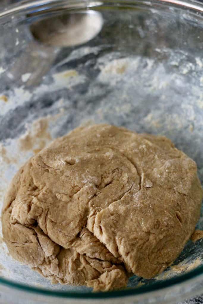 Adding in remaining flour