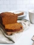Greek yogurt pumpkin bread sliced