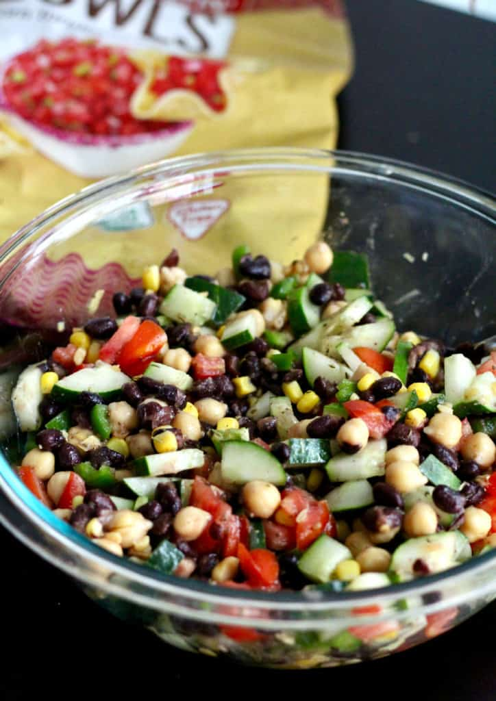 Healthy cowboy caviar in a bowl