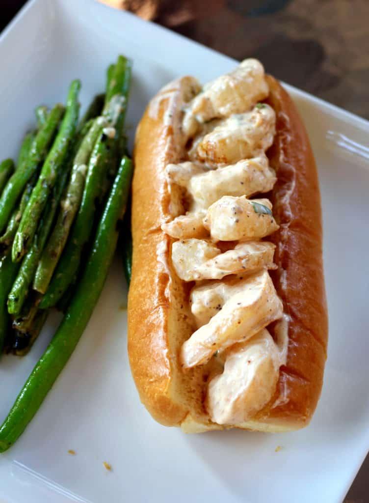New England-Style Shrimp Po Boys with Zesty Green Beans