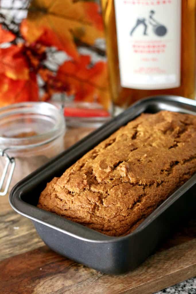 (Healthier) Bourbon-Spiked Pumpkin Bread