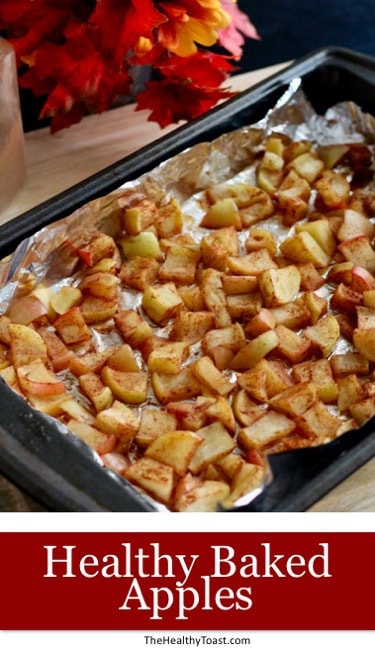 Healthy baked apples pinterest image
