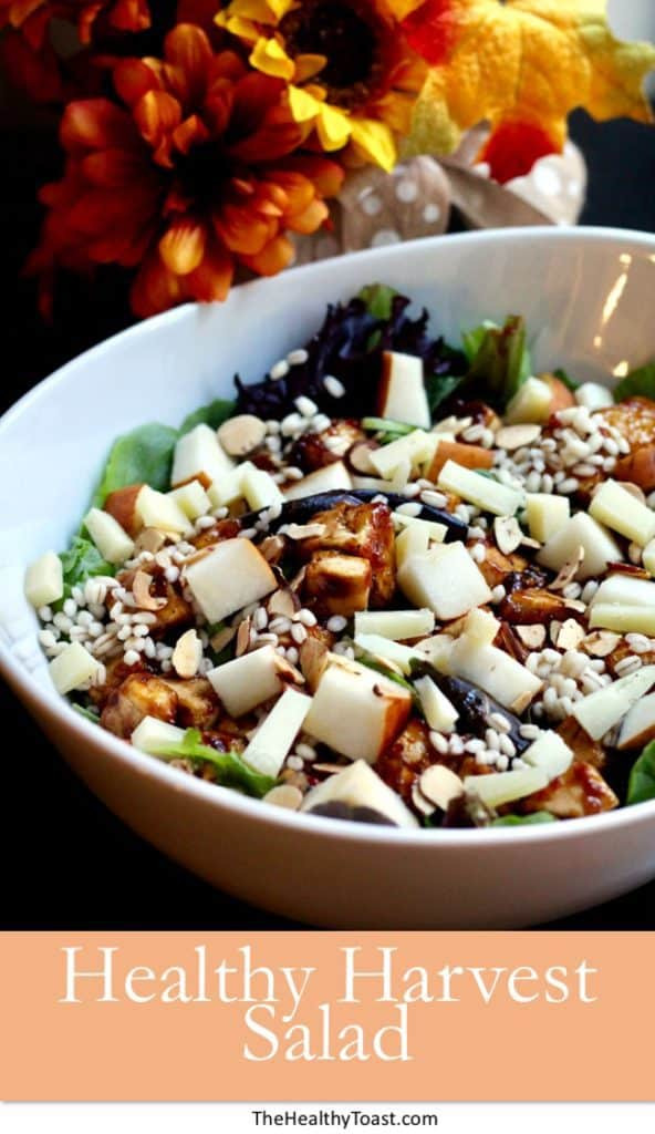 Healthy Harvest Salad Pinterest image