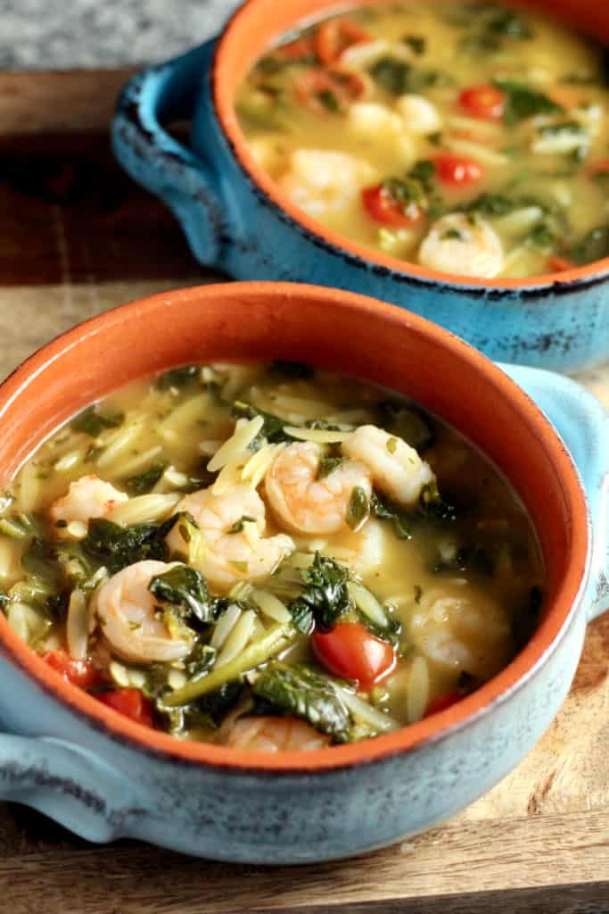 10 minute shrimp and orzo soup