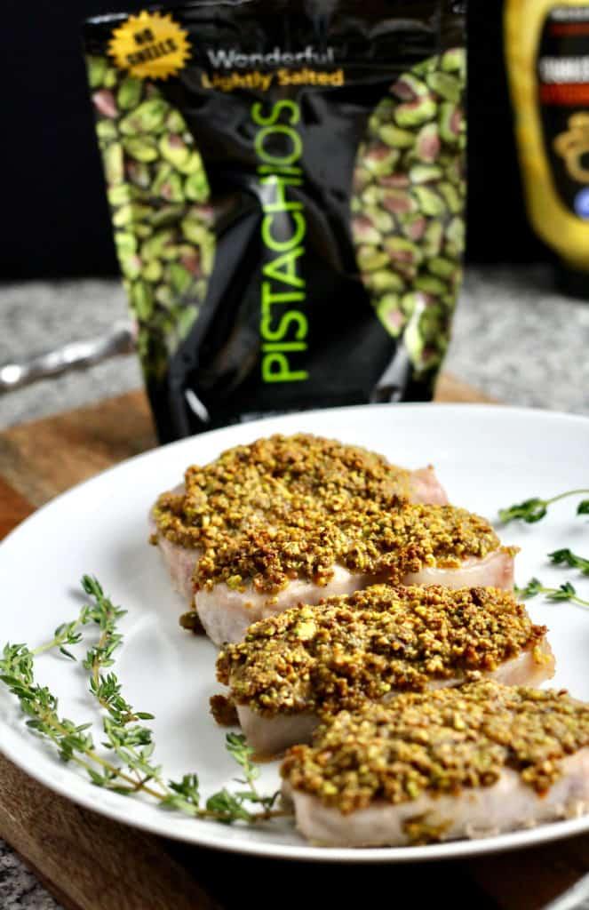 Pistachio-Crusted Pork Loin Chop
