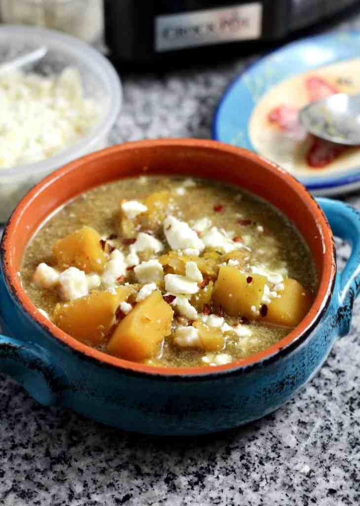 Slow-Cooker Butternut Squash Soup (vegan-friendly)