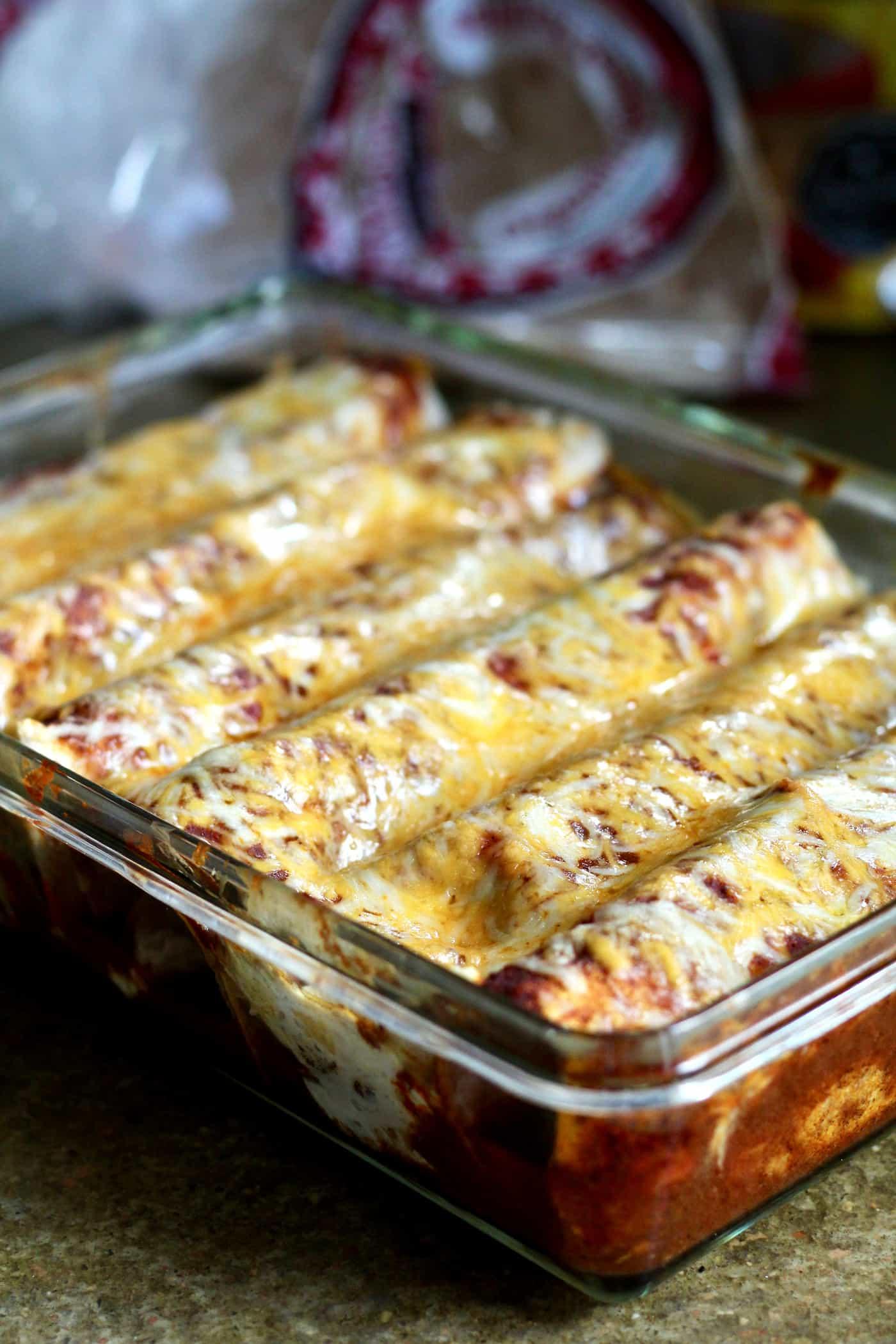 Healthier Chicken Enchiladas