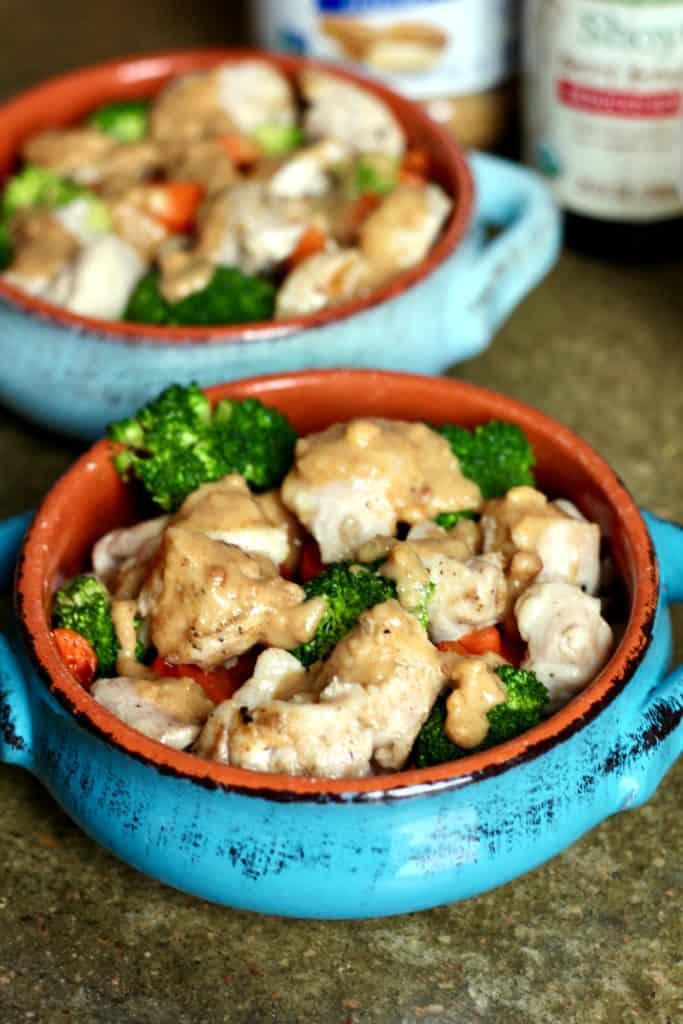 Thai Chicken Bowls with Peanut Sauce