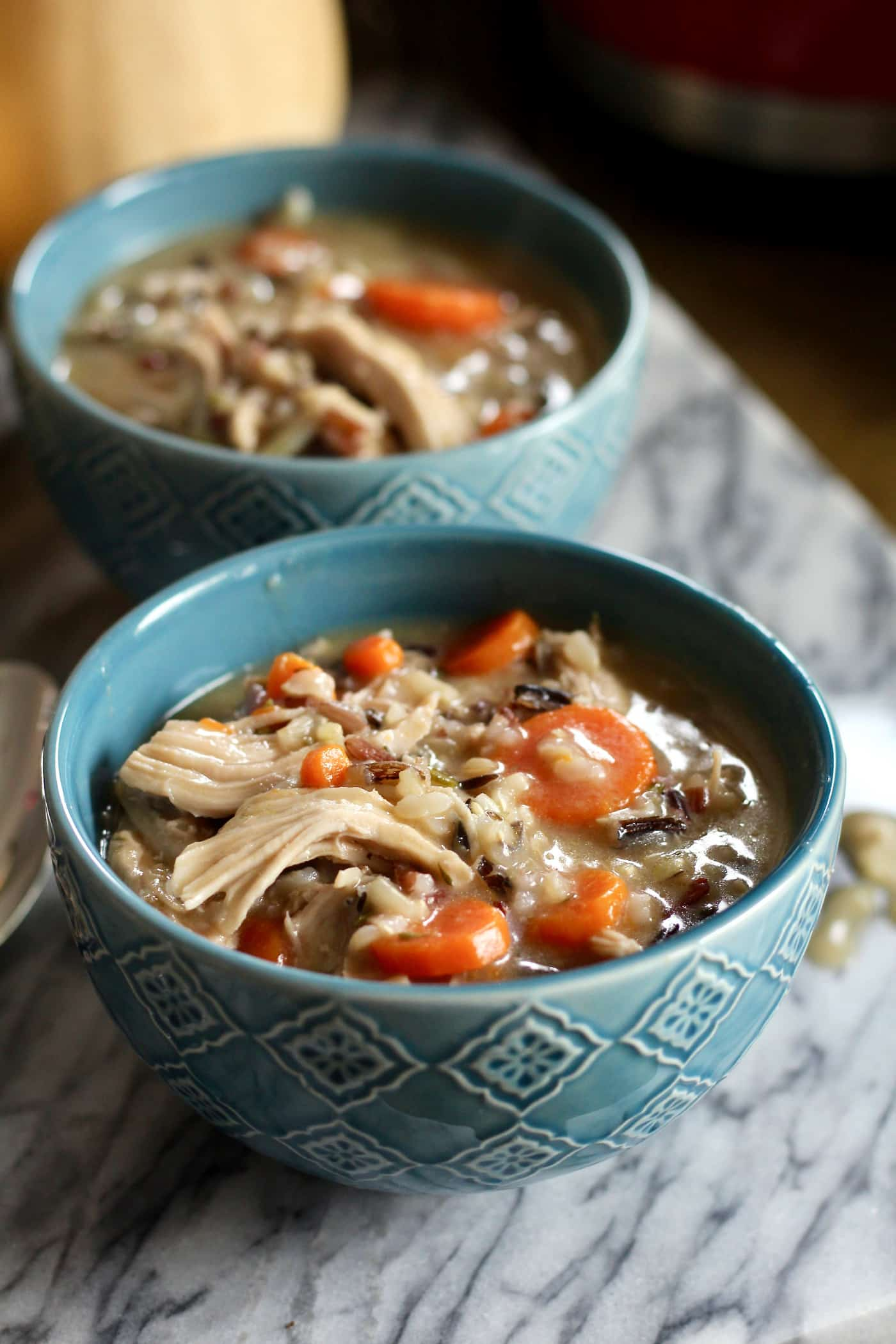 Healthy Wild Rice Soup Recipe with Leftover Turkey