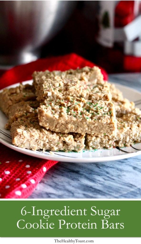 Sugar Cookie Protein Bar Pinterest image