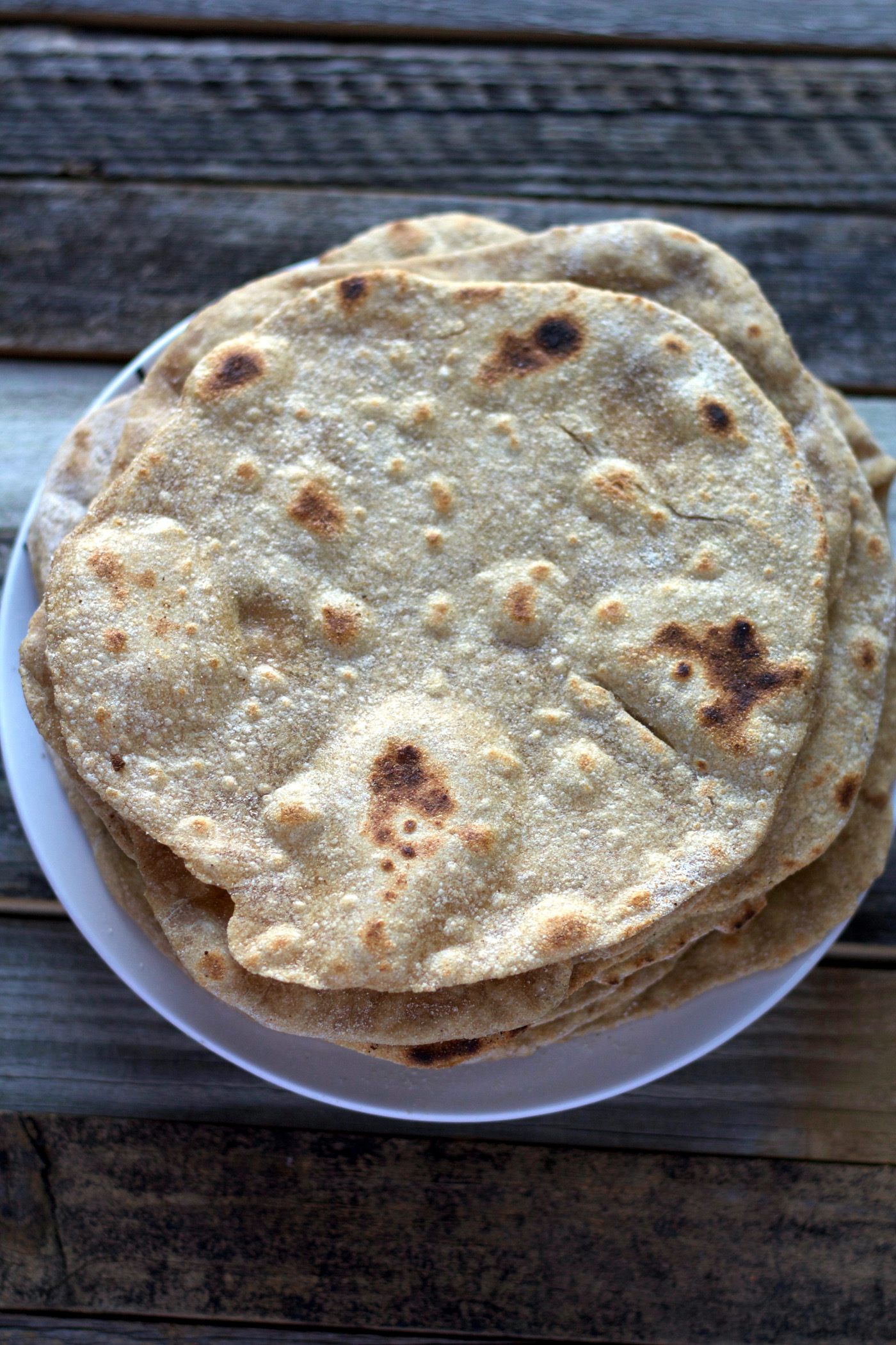 Easy 4-Ingredient Whole Wheat Tortillas