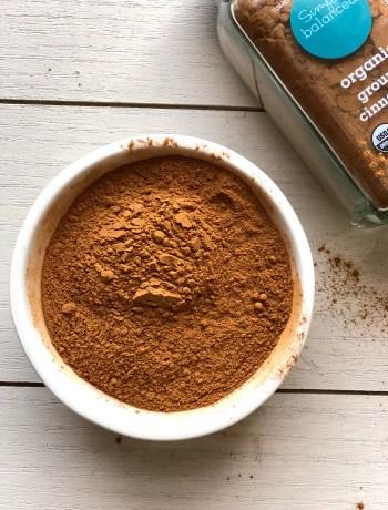 Bowl of ground cinnamon